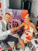 Alex and Leighton Denny getting ready for Royal Ascot