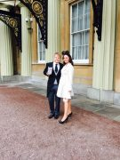 At Buckingham Palace with Leighton Denny MBE