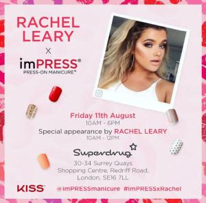 rachel leary imPRESS launch